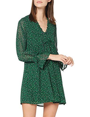 Yumi Kvinnors grön leopardtryck tunika vardagsklänning