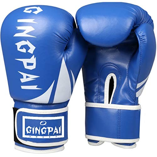 CXKWZ Boxhandschuhe Professionelle Kinder Boxhandschuhe 6-8Oz Kids Combat Muay Thai Handschuh Kinder Boxhandschuhe Für 5-14 Jahre Jungen Mädchen Rot Blau