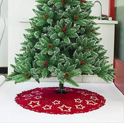 tytltree Falda De Árbol De Navidad con Estampado De Estrellas,Fieltro Impreso,Buena Elasticidad,No Es Fácil De Deformar,Adorno para Decoración De Fiesta,100 Cm