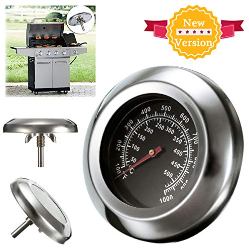 Thermomètre Pour Barbecue, KING DO WAY Thermomètre de cuisson Grille En Acier Inoxydable Outils De BBQ Thermomètre de four Temps Gauge - 49mmX75mmX13.5mm