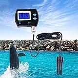 ZZKK Risoluzione dell'analizzatore di acidità del misuratore di PH con Serbatoio per Pesci d'acquario rilevatore di Tester per retroilluminazione