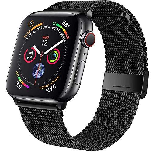 Daihook Ersatzarmband Kompatibel mit Apple Watch Armband 42mm 44mm, Metal Edelstahl Armband mit...