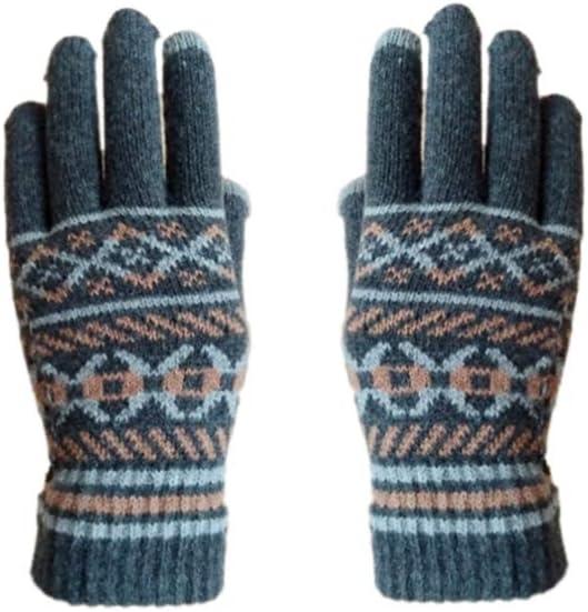 NEW Healifty Printed Winter Gloves Kansas City Mall Finger Grey Full