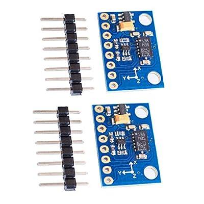 2pcs LSM303DLHC GY-511 3 Axis e-Compass Accelerometer Magnetometer Module 12 Bit AD Convert
