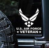 Sunset Graphics & Decals Air Force Veteran Decal Vinyl Car Sticker Proud | Cars Trucks Vans Walls Laptop | White | 5.5 Inch | SGD000156