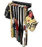 StoreYourBoard Baseball Bat Storage Rack, 14 Bat Caddy, Hanging Organizer, Wall or Fence Mount, Equipment Holder, Fits, Solid Steel, Gloves Helmets Cleats