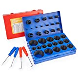 ORION MOTOR TECH 826pc Universal O Ring Assortment Kit in 32 Sizes | SAE and Metric O Ring Kit for Plumbing Automotive Faucet Repair More | Nitrile Rubber O Ring Set with 4 Pick & Hook