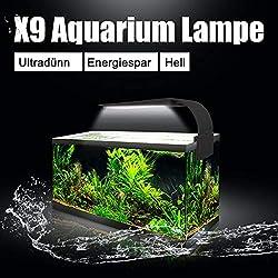 SENZEAL-X9-LED-Aquarium-Beleuchtung-Widder-Super-Slim-Aquarium-Licht-LED-Clip-on-Lampe-220V-15W-2000LM-fr-14-bis-19-Zoll-Fisch-Tank-Wei-und-Blau-Licht
