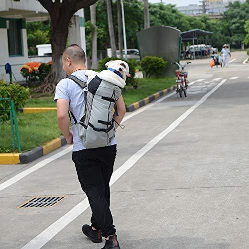 Romsion Home Hond Tas Carrier Huisdier Hond Rugzak voor Grote Medium Kleine Honden Ademende Reizen Hond Tas voor Rijden Wandelen