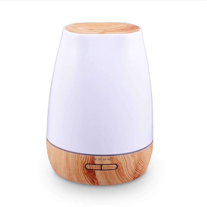 CAFUTY 500mlセラム加湿器超音波アロマエッセンシャルオイルディフューザーforオフィス家庭用ベッドルームリビングルームスタディーヨガスパ (Color : Wood Grain)