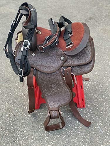 Countrypride NEW WESTERN SILLA PARA PONY Y SHETLAND HORSES SINTÉTICOS MARRÓN