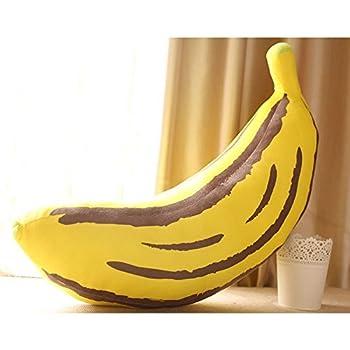 Sunecho リアルぬいぐるみ 食べ物ぬいぐるみ ふわふわバナナ 面白抱き枕 リアルクッション誕生日 プレゼント 芝居道具 (90cm)