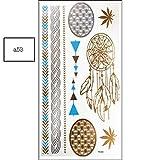JIEIIFAFH Tatuaje Temporal de 6 Piezas Color Personalidad Etiqueta de Estilo múltiple Estampado en Caliente Etiquetas engomadas Impermeables del Tatuaje (Color : 6-Piece Set)