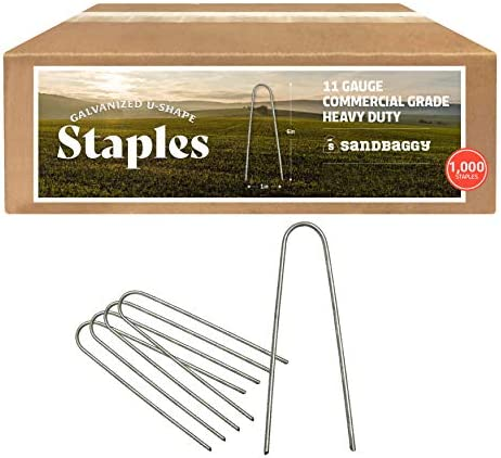 Sandbaggy Galvanized 6 Inch Round Top Landscape Staples SOD Garden Stakes for Drip Irrigation product image
