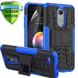 RioGree for LG K30 Phone Cases / k10 2018 / Phoenix Plus / CV3 / Pro LTE/Harmony 2 Cell Phone Case, with Screen Protector Kickstand Heavy Duty for Women Men, Blue