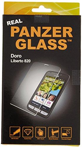 PanzerGlass PG1700 Original Echtglas Schutzfolie Kristallklarer Bildschirmschutz aus Hartglas Kratzfest Stoßdämpfend Flüssigkeitsabweisend Berührungsempfindlich für Doro Liberto 820