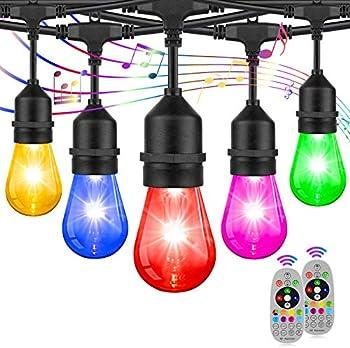2-Pack RGB Waterproof & Shatterproof String Lights