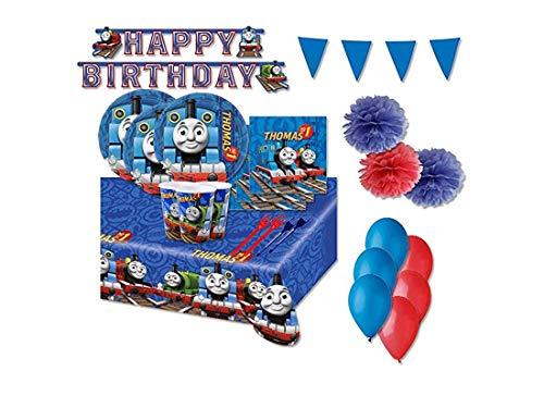 Irpot Kit 54 F ADDOBBI Festa Compleanno Trenino Thomas