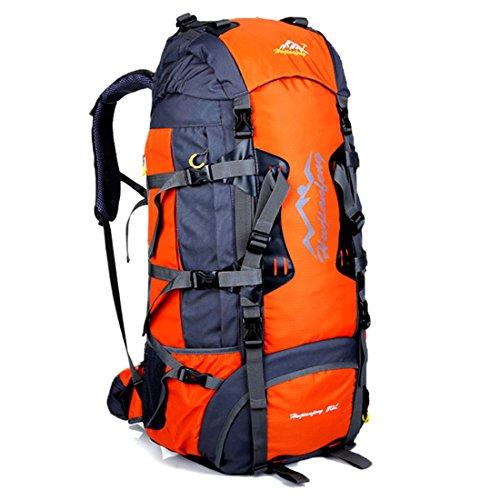 Plover Femmes Hommes Nylon Multifonctionnel Camping Randonnée Escalade Voyage d'équipe Sac à dos Sac de sport Sac à dos Capacité Max-75L