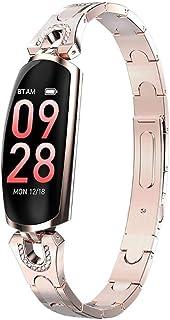 Reloj Inteligente para Mujer, Pulsera con Detector de frecuencia cardíaca, Pantalla táctil de 0.96 Pulgadas, Reloj Deportivo a Prueba de Agua IP67, Compatible con Sistema iOS/Android