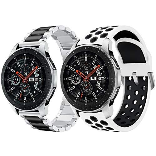 pas cher un bon Bracelet de montre Con compatible Syxinn Galaxy Watch 46 mm / Gear S3 Frontier / Bracelet en acier inoxydable Classic 22 mm…