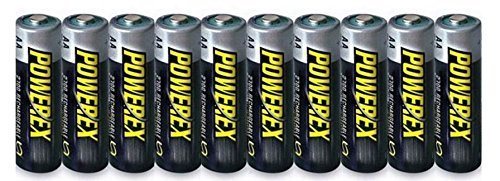 10 PowerEx Rechargeable AA NiMH 2700mAh Batteries with Free Cases