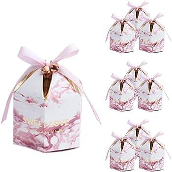 Lumanuby 10 Piezas Forma de tienda Cajas para dulces bombones Caja kraft de boda regalo Cajita dorado para boda bautizo cumpleaños Navidad graduación comunión: Amazon.es: Hogar