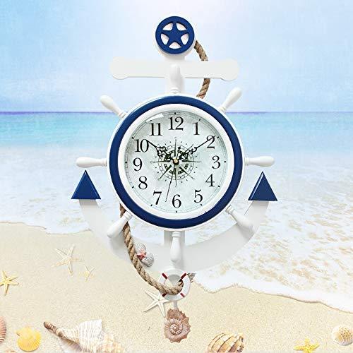 SUNTAOWAN Mediterráneo arbolado Barra de diseño de Interiores Pared de la Sala de Estar Minimalista Moderna decoración del Reloj de péndulo mediterráneo