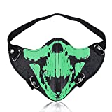 GelConnie Leather Mask Scary Half Face Cosplay Mask...