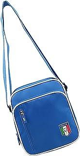 FIGC ショルダーバッグ メッセンジャー イタリア 幅×高さ×マチ幅 (20×24×6.6cm) ブルー サッカー イタリアサッカー連盟