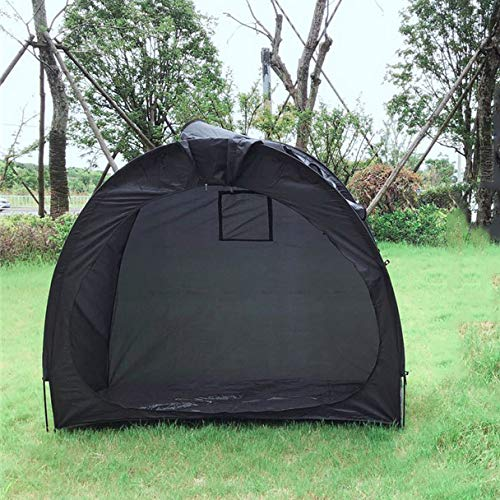 XIONGGG Portable Bike Storage Shed Tent Outdoor Pop Up Bicycle Tent Weatherproof Reusable Bike Shed with Waterproof Cover,Black
