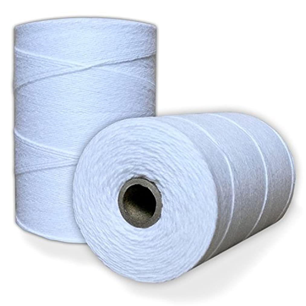 100% Cotton Loom Warp Thread (Pure White), 8/4 Warp Yarn (800 YARDS), Perfect for weaving: carpet, tapestry, rug, blanket or pattern - Warping thread for ANY LOOM