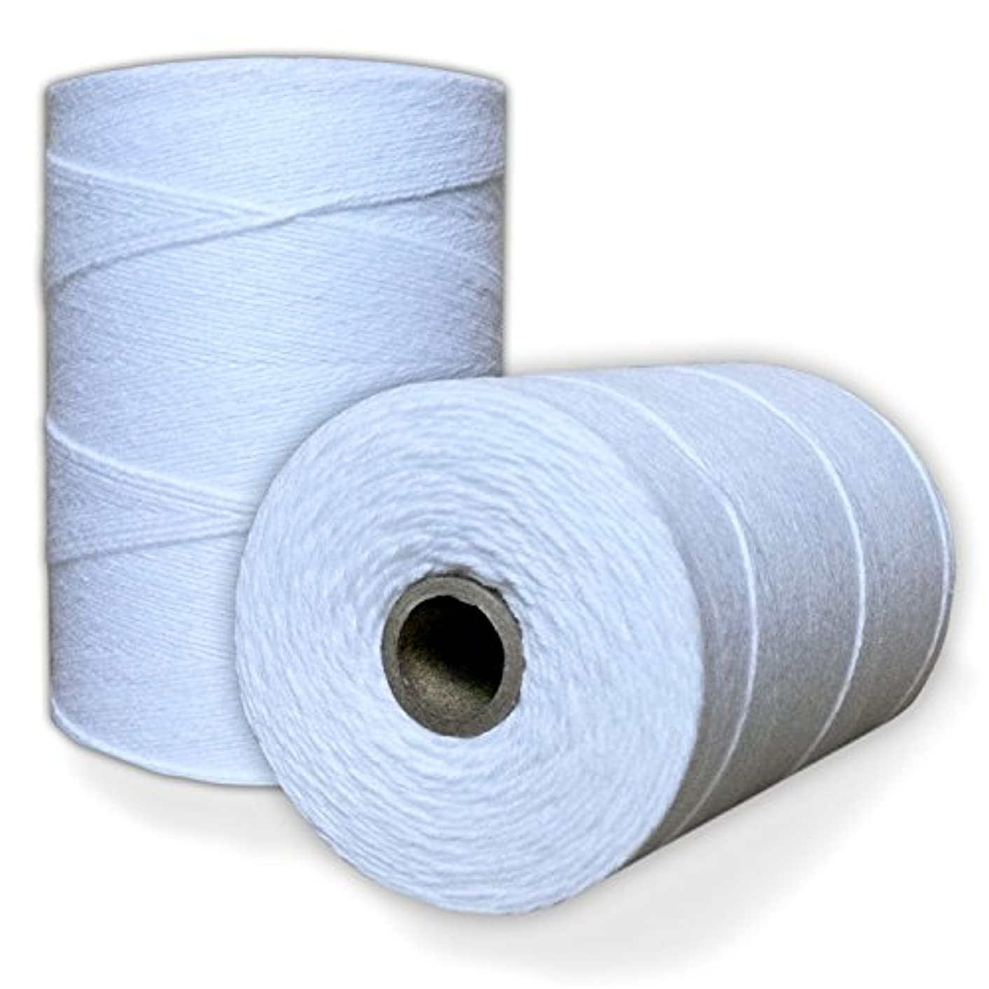 100% Cotton Loom Warp Thread (Pure White), 8/4 Warp Yarn (800 YARDS), Perfect for weaving: carpet, tapestry, rug, blanket or pattern - Warping thread for ANY LOOM auzpgiot17605332