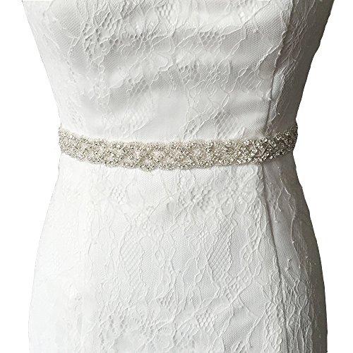 Vococal - Boda Vestido Faja Cintura Cinturón de Cinta de Raso Blanco