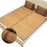Estera de bambú Matería de enfriamiento de bambú Conjunto de colchón fresco, colchoneta de paja de ropa de cama Mats para...