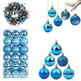 WELLXUNK Bolas de Navidad, 36 Bolas de Decoración Navideña, Bolas de Adornos Navideños...