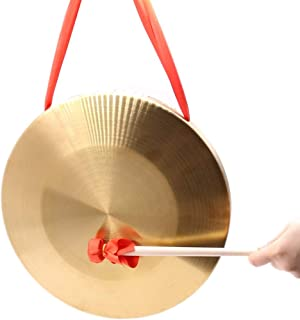 Bronze Chau Gongs, Frideko Chinese Copper Feng Gong with Beater Diameter 12.6 Inches