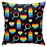 XinT Pillow Cases Rainbow Condoms Throw Pillow Cover Decorative Pillowcases 18x18 Inch