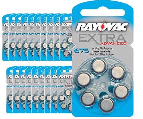120 pile per apparecchi auditivi Rayovac Extra advanced/675 apparecchio acustico PR44-pile per apparecchi acustici/pile/675AE, A675, DA675, P675 PR675H