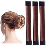 Original Dutt Maker Haarteil - Dutt Twister Haarschmuck Frisurenhilfe - 3x Set (braun)