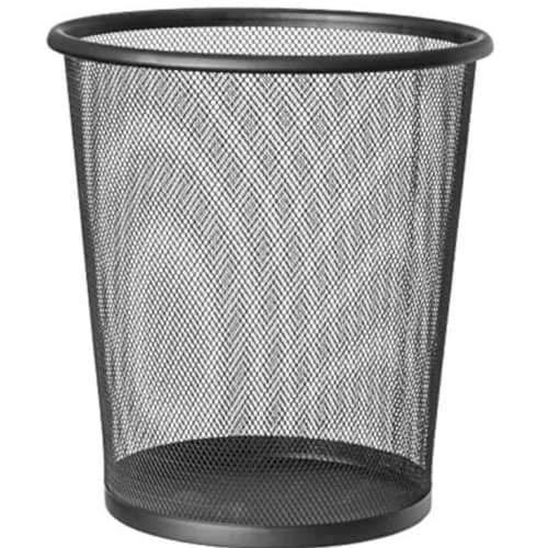 CABLEPELADO Papelera Malla Metalica 12 litros Negro ⭐