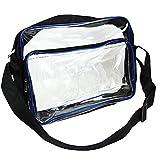kutsukage エンジニアショルダーバッグ 透明バッグ 仕切りポケット A4サイズ 静電気 防止