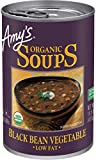 Amy's Organic Black Bean Vegetable Soup, Low Fat, Vegan, 14.5-Ounce (Pack of 12)...