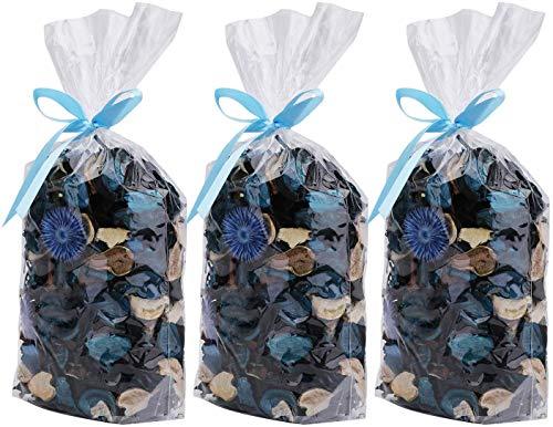 AMAZING1 Potpourri Lot de 3 sachets de fleurs séchées Parfum océan Parfum frais Pétales de fleurs séchées Parfait pour un bol et un vase Décoration Cadeau pour vous-même Maison et Bureau