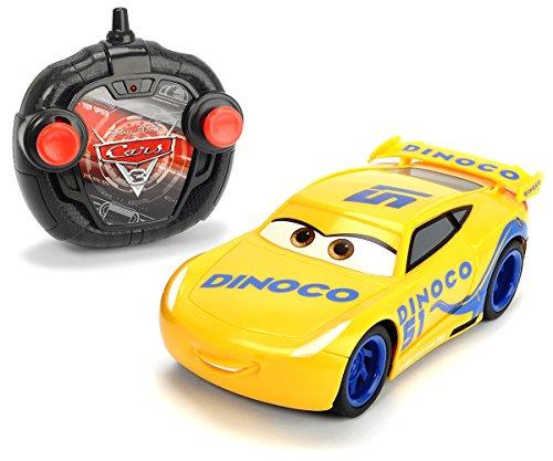 "Dickie Toys 203084004 - \""Cars 3 Turbo Racer Cruz Ramirez\"", RC Fahrzeug, ferngesteuertes Auto, 1:24, 17cm"