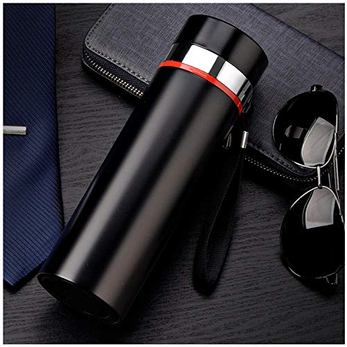 Wgath Mode 500Ml Home Thermos Thee Thermoskan Met Filter Roestvrij Staal Thermische Cup Koffiemok Waterfles Kantoor Bedrijf A