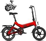 Bicicleta eléctrica Bicicleta eléctrica por la Mon Bicicleta eléctrica, Foldablke 16 Pulgadas 36V E-Bici con 7.8Ah batería de Litio, Ciudad de Bicicletas Velocidad máxima 25 km/h, Freno de Disco par