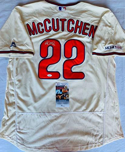 Andrew Mccutchen Autographed Signed Philadelphia Phillies Jersey JSA COA Cutch
