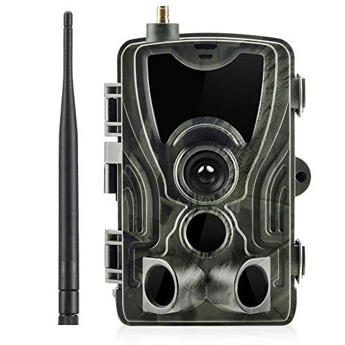 QYLT 3G 1080P 16MP Wildkamera Fotofalle mit IP65 wasserdichte Jagdkamera 36 Pcs Low-Glow 940nm Infrarot-LEDs, Infrarot-Nachtsicht bis zu 20m, Triggerzeit 0.3s für Jagd Überwachung