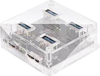 Farantasy USBハブ充電用USBケーブル付き4ポートUSB 3.0ハブスクエア5GbpsマルチポートエキスパンダーUSB C ウルトラスリム USB C 4K HD出力ポート 充電対応 USB 3.0ポート SD Micro SD カードリーダー マイクロ タイプC HDMI マルチ変換アダプタ Nintendo Switch、Samsung Galaxy S8、Macbook proなど対応